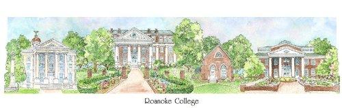 Roanoke College - Collegiate Sculptured Ornament by Sculptured Watercolor Ornaments