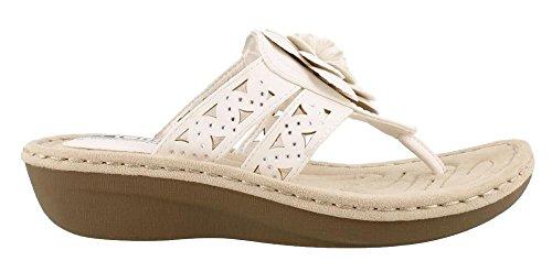 Shoes CLIFFS Women's Sandal MOUNTAIN WHITE BY Cynthia zt6ftF