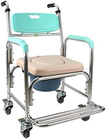 Bbhhyy Toilettenstuhl Old Man Toilettensitzrückenlehne Verstellbar Duschliege for Behinderte Rollstuhl-Pflegestuhl