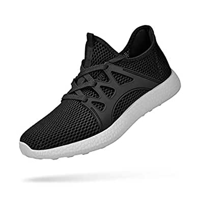 domirica Mens Sneakers Lightweight Breathable Running Shoes Multicolor Size: 10.5 US Black/Gray