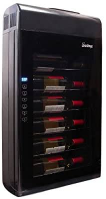 Vinotemp VT-6TED-WB 6 Bottle Wall-Mounted Thermoelectric Wine Cooler, Black
