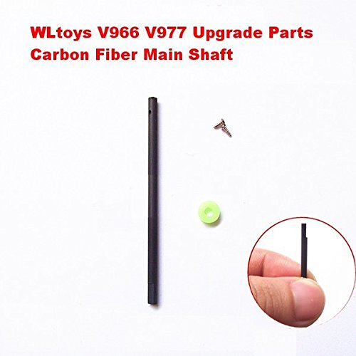 Pink Lizard WLtoys V966 V977 Upgrade Parts 2.5mm Carbon Fiber Main Shaft