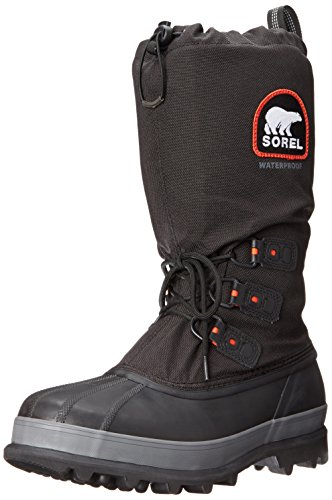 Sorel Men's Bear Extreme Snow Boot, Black/Red Quartz, 8 M US
