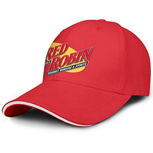 Unisex Men's Red Robin America's Gourmet Burgers&Spirits Restaurant Hat Baseball Hats Adjustable Outdoor Flat Caps