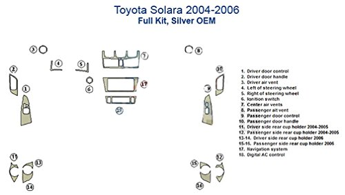 Oem Match Wood - Toyota Solara Basic Dash Trim Kit, OEM Match - Japanese Cherry Wood