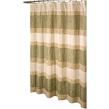 Awesome Ex Cell Home Fashions Wasabi Fabric Shower Curtain, Sage