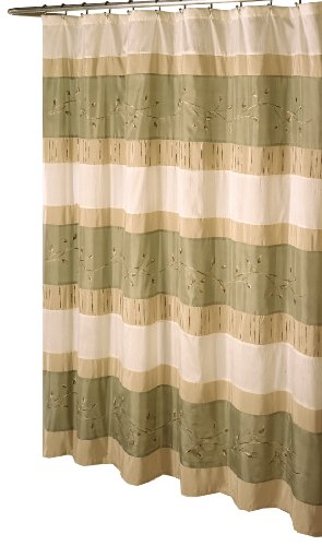 Ex-Cell Home Fashions Wasabi Fabric Shower Curtain, Sage
