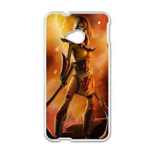 HTC One M7 Cell Phone Case White League of Legends Stinger Akali Ozglt
