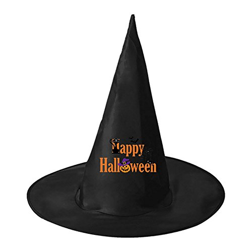 Halloween hat Happy Halloween! Women Black Witch Costume Headwear for Halloween (Troll Costume Pregnant)