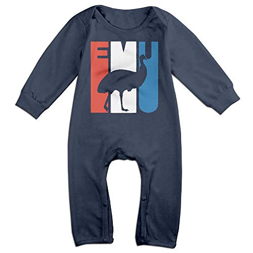 Price comparison product image Retro Emu Silhouette Fashion Newborn Baby 6-24 Months Baby Climbing Clothing Baby Long Sleeve Garment