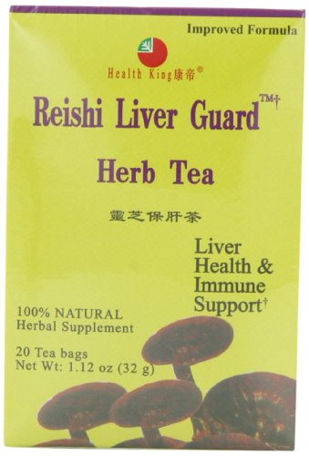 Health King  Reishi Liver Guard Herb Tea, Teabags, 20-Count Box (Pack of 4)