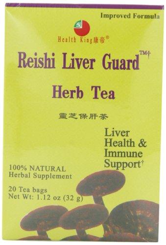 Health King  Reishi Liver Guard Herb Tea, Teabags, 20-Count Box (Pack of 4) (Reishi Liver Guard Herb Tea)