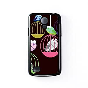 Birds in a cage Black Hard Plastic Case Snap-On Protective Back Cover for Samsung? Galaxy S4 Mini by Nick Greenaway + FREE Crystal Clear Screen Protector