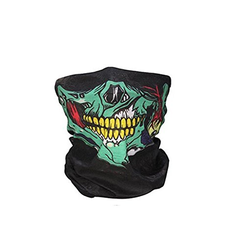 Outdoor Face Masks,ECLEAR Seamless Skull Half Face Tube Mask Headwear for Motorcycle Hiking Cycling Ski Snowboard - Ghost - Reviews And Sun Ski