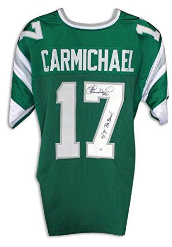"Harold Carmichael Philadelphia Eagles Autographed Green Jersey Inscribed""4X Pro Bowl"" Autographed - Autographed NFL Jerseys"