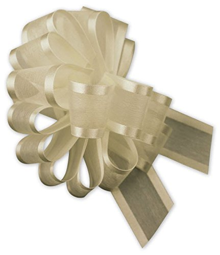 Satin Edge Pull Bow - EGP Sheer Satin Edge Pull Bows, 18 Loops, 1 1/2