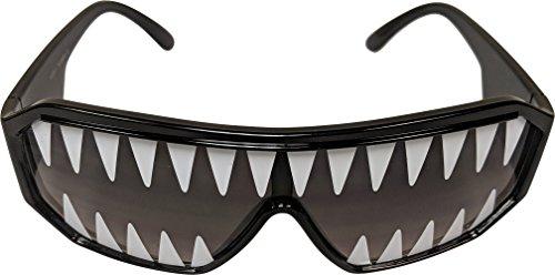 Macho Man Randy Savage Shark Tooth Black See Through Party Sunglasses by Macho Man