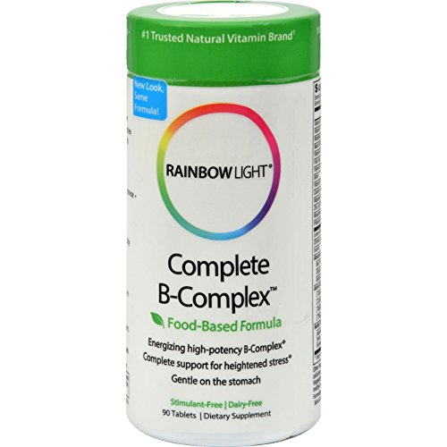 - 2 Pack of Rainbow Light Complete B-Complex - 90 Tablets
