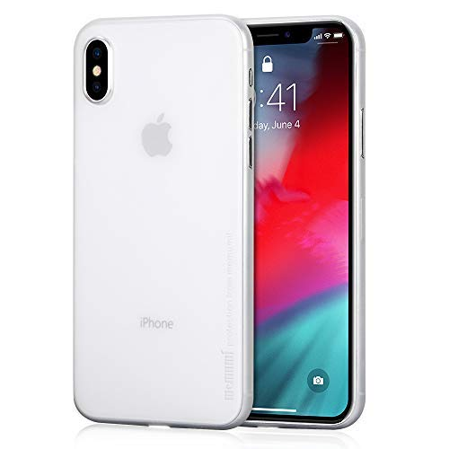 Compatible with iPhone Xs Max Case 6.5 2018, memumi Ultra Thin 0.3 mm PP Matte Finish for iPhone Xs Max Slim Phone Case [Fingerprint Resistant] [Scratch Resistant] Matte White
