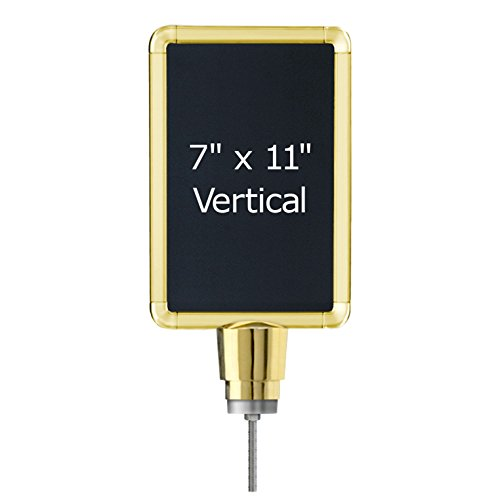 Lavi-Industries-Sign-Frame-for-Post-and-Rope-Stanchions-Slotted-7-x-11-Gold