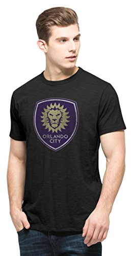 fan products of MLS Orlando City Soccer Club Men's Scrum Basic Tee, Large, Jet Black