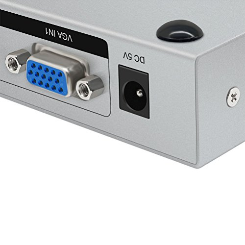 DTECH 2 in 2 out VGA Switch Splitter Video Distribution Box for Computer Monitor Sharing (40-80 meter Connection and 2048 x 1536 High Resolution) by DTech (Image #3)
