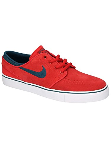 Nike Stefan Janoski (Gs), Zapatillas de Skateboarding para Niños Rojo (Rojo (university red/midnight turq-white))