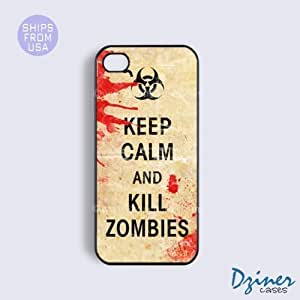 LJF phone case iPhone 5c Case - Keep Calm Kill Zoombies iPhone Cover