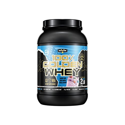 100% Golden Whey | Bubble Gum | Premium 100% Whey Protein Powder, High Protein, Low Fat, Low Carb, Complete Amino Acid Profile (2-Pounds)