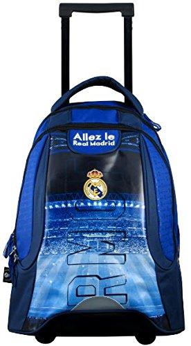Real Madrid Mochila Roulette Mixta niño, Azul, 47 cm: Amazon.es: Deportes y aire libre