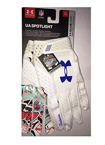 Under Armour UA Spotlight XL Gloves Limited Edition Alabama Glue Grip ()