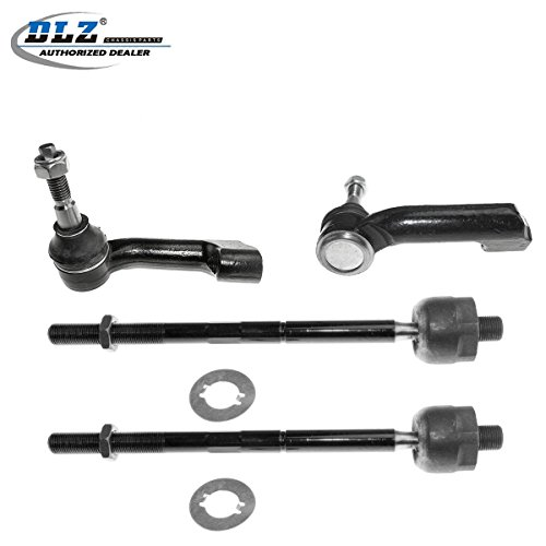 DLZ 4 Pcs Front Suspension Kit-2 Inner 2 Outer Tie Rod End EV800457 ES800514 Compatible with 2007-2015 Ford Expedition 2009-2014 Ford F-150 2007-2014 Lincoln Navigator