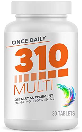 310 Nutrition Multivitamin | Made from Fruits and Vegetables | Essential Multivitamins and Multimineral Supplement for Men and Women | Contains Vitamins, Probiotics, and Our Proprietary Greens ()