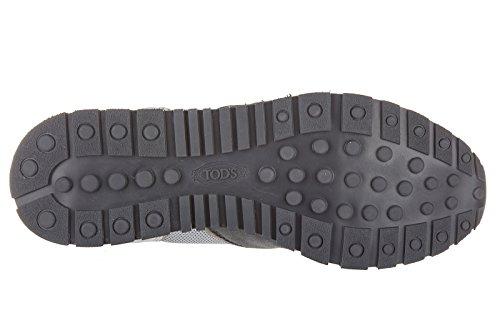 Tod's chaussures baskets sneakers homme en daim allacciato active sportivo gris
