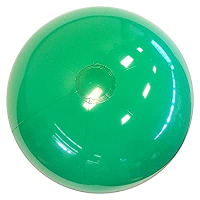 Beachballs - 16'' Solid Green Beach Ball: Sports & Outdoors
