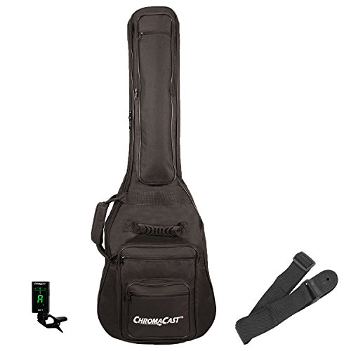 ChromaCast Electric Guitar Padded Gig Bag, Guitar Strap and