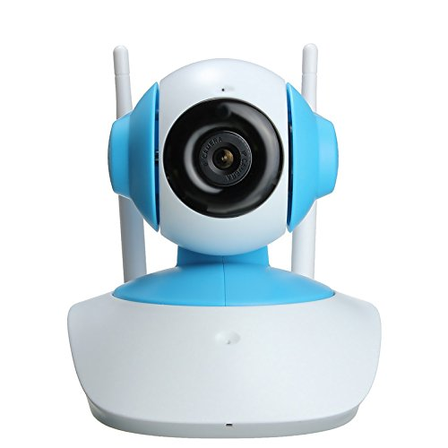 KING DO WAY HD IP Camera 720P Wireless Surveillance Security Camera Night Vision Network Baby Monitor with Two-way Audio Blue White and Green Blue