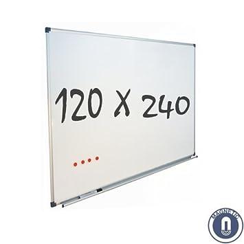 Pizarra Blanca 120x240 cm - Magnética: Amazon.es: Oficina y ...