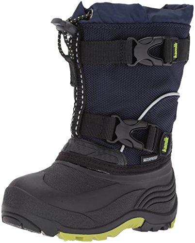Kamik Children's Snow Boots (Kamik Boys' Glacial Snow Boot, Navy, 6 Medium US Big Kid)