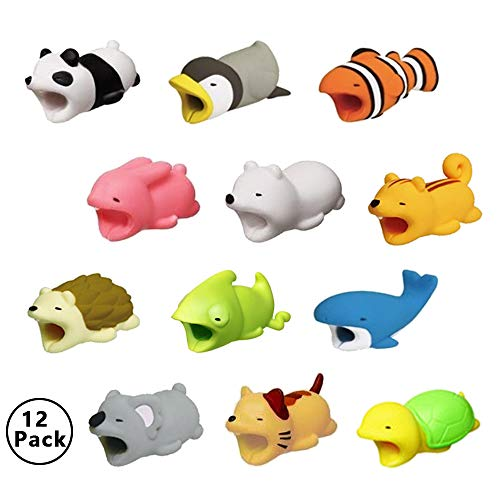 Animal Cable Charger Protector Compatible iPhone Cable Charging Cord Saver Cute Cable Bites Accessories 12-Pack