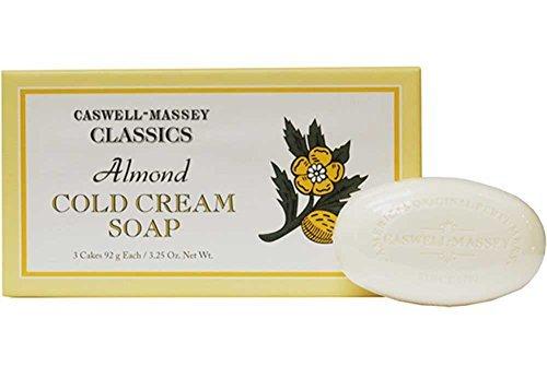 Caswell-Massey Almond Cold Cream Bath Hand Bar Soap 3 X 3.25 Oz Each Boxed (Ounce Bath 3.25 Bar)