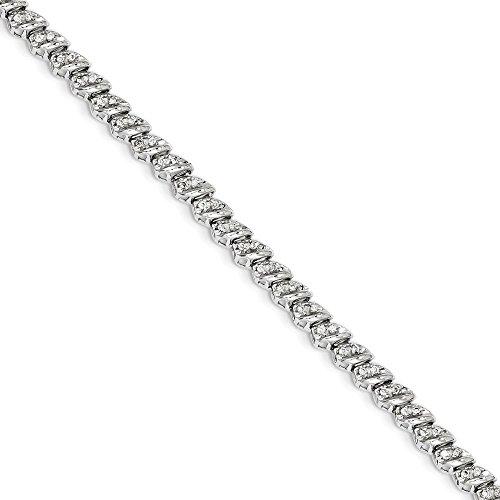 14k White Gold Diamond Bracelet (Diamond White Gold Baby Bracelets)