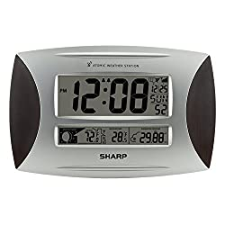 Ashton Sutton SPC1005WG Sharp Atomic Weather Wall Clock
