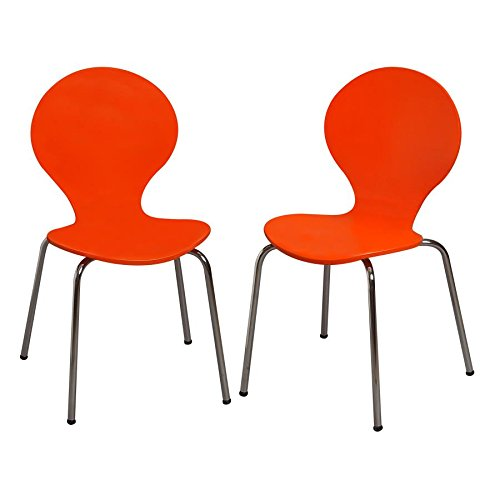 Kid's Desk Chair (Set of 2) Color: Orange Review