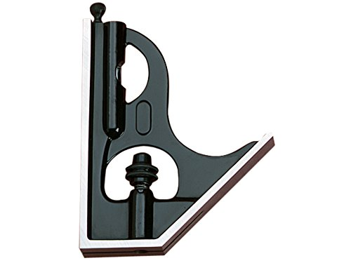 Starrett H11-1224 Cast Iron Square Head For Combination Squares, Combination Sets And Bevel Protractors, Black Wrinkle Finish (Square Fairway Head)