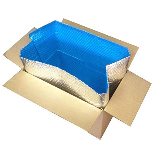 Foil Insulated Box Liners, 18'' x 12'' x 12'' - 10/Case by Cool Blue