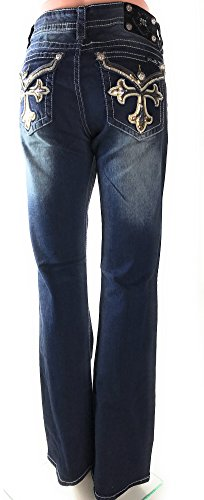 Miss Me Modern Cross Boot Cut Jeans (33)