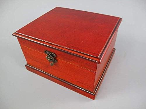linoows Schmuckkästchen, Schmuck-Truhe, Nostalgie Holz Box zum aufklappen