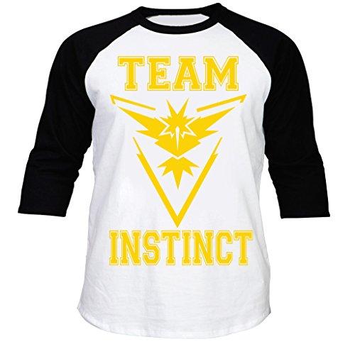 FTD Apparel Men's Team Instinct Baseball Raglan Tee - XL Black ()