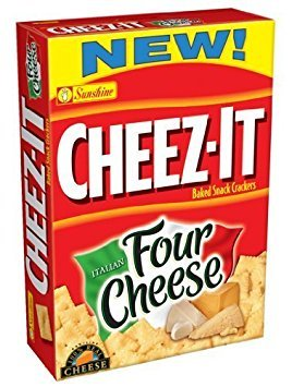Sunshine, Cheez-It Baked Snack Crackers, Italian Four Cheese, 12.4oz Box (Pack of 4) ()